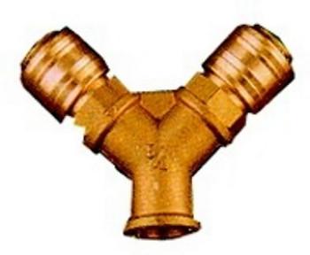 Rozdělovač tlakového vzduchu se 2 rychlospojkami, R 3/8, vnitřní závit Einhell